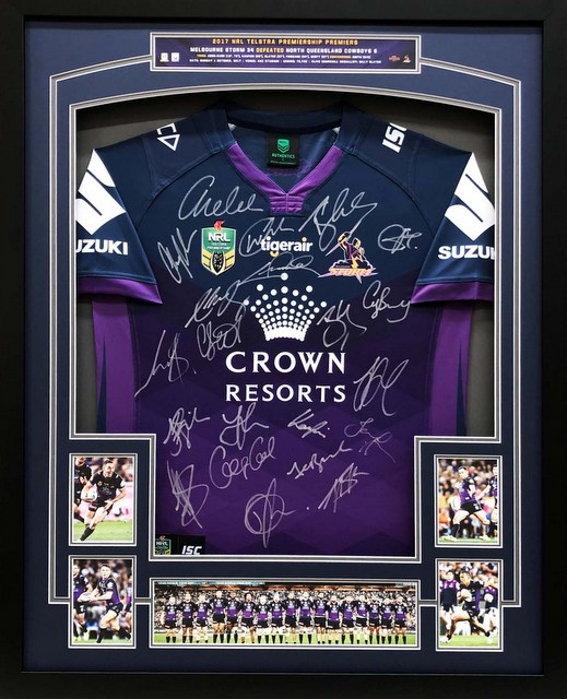 Melbourne Storm 2017 Premiers Team Signed Jersey