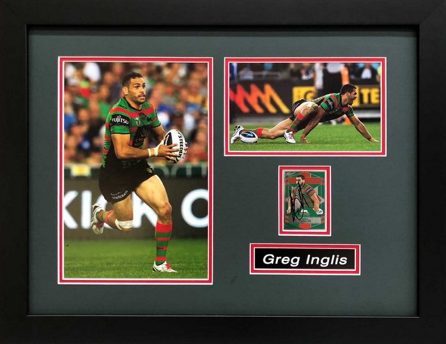 "Greg Inglis South Sydney Rabbitohs Personally Signed ""Card Series"" - GREAT PRICE!"