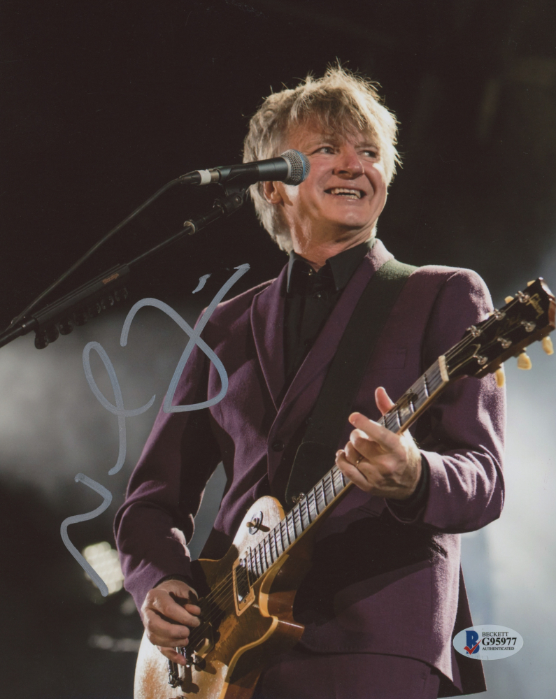 Neil Finn Personally Signed Photo - From Split Enz to Fleetwood Mac