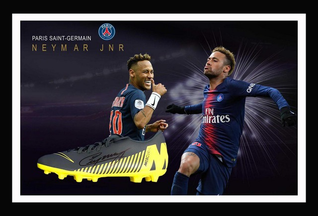 Neymar Jr Personally Signed Boot
