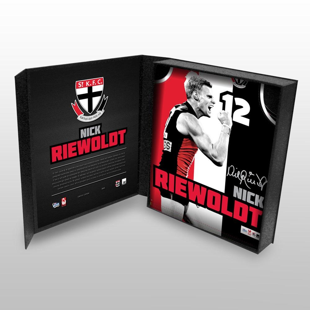 Nick Riewoldt St Kilda Saints Hand Signed Boxed Sublimated Jersey