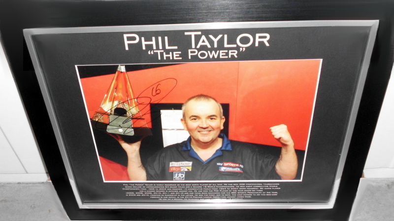 "Phil ""The Power"" Taylor Personally Signed Lithograph (V2), World's Greatest Darts Champion"