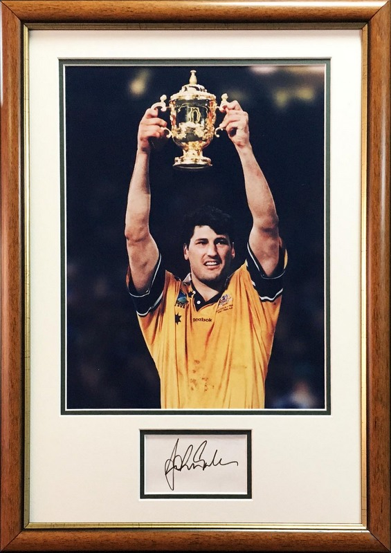 John Eales Signed Lithograph, Framed