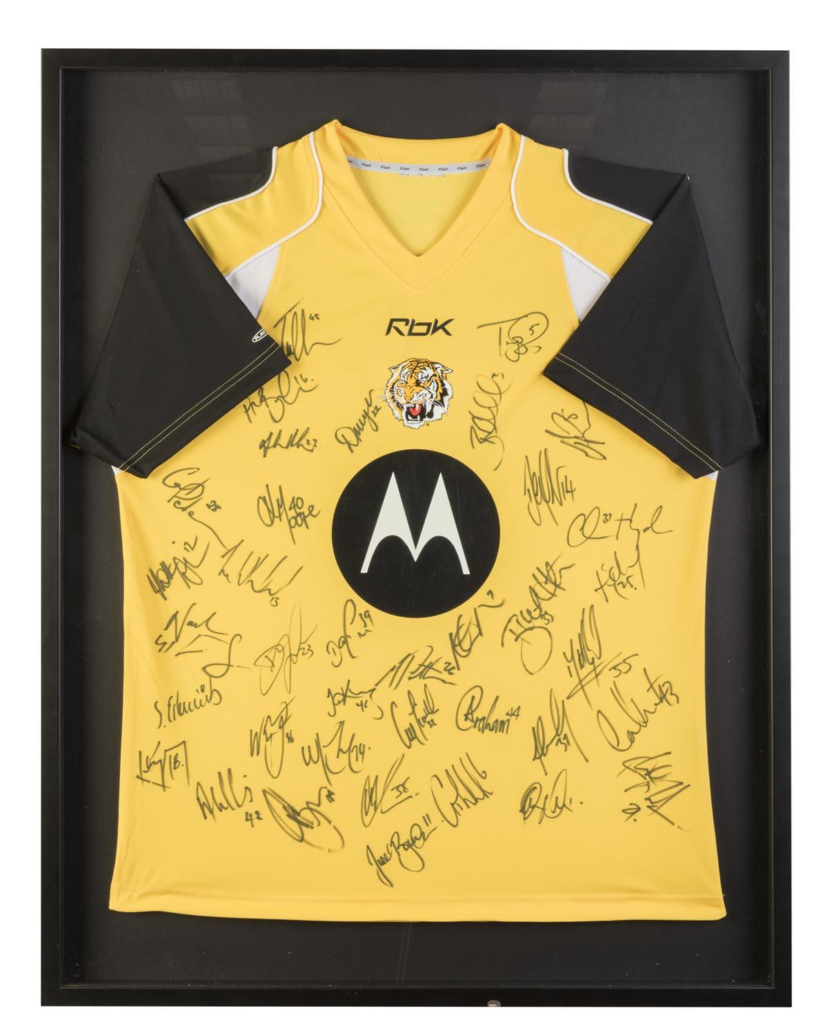 Richmond 2006 Training Jersey Hand Signed by 39, Framed