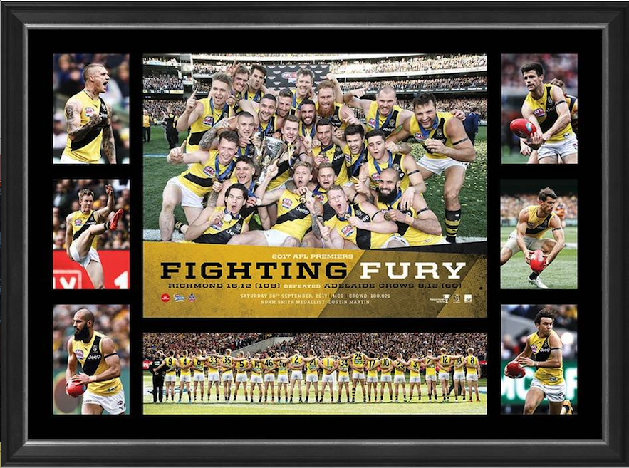 Richmond Tigers 2017 AFL Premiers Success Tribute Framed