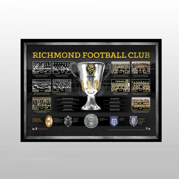 "Richmond Tigers ""The Historical Series"" Deluxe Sportsprint, Framed"