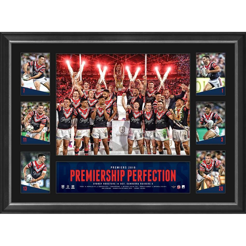 "Sydney Roosters 2019 ""Premiership Perfection"" Tribute Frame"