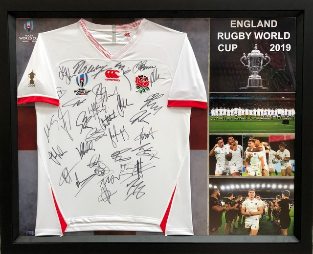 England 2019 RWC Squad Signed Jersey