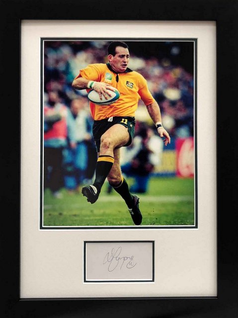 "David Campese Personally Signed ""Legends Series"", Framed"