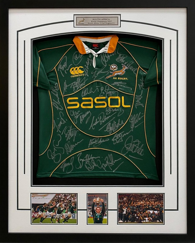 South Africa Springbook 2007 RWC Champions Squad Signed Jersey
