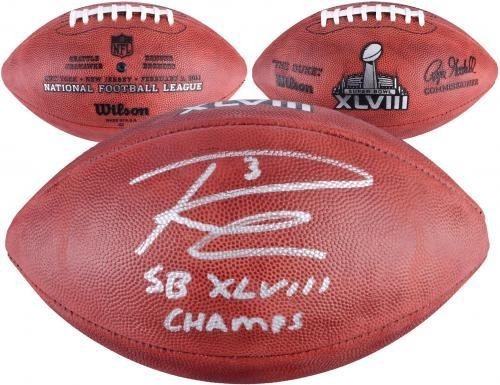 Russell Wilson Signed NFL Replica Game Football