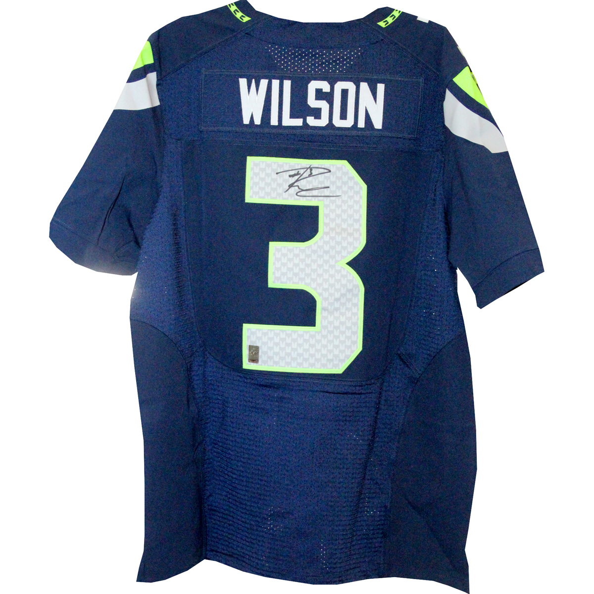 Russell Wilson Signed Seattle Seahawks Blue Jersey