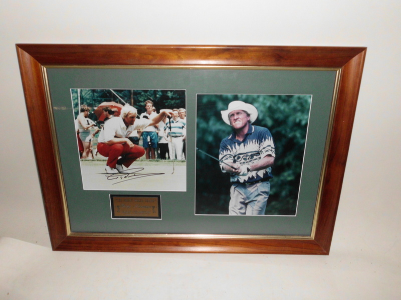 "Greg Norman ""Legends Series"" Personally Signed Photo Collage, Framed"