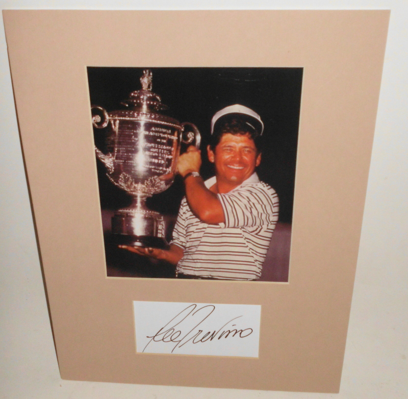 "Lee Trevino Personally Signed ""Legends Series"", Framed"