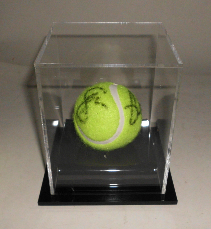 Serena Williams and Venus Williams Dual-Signed Tennis Ball in Display Cube