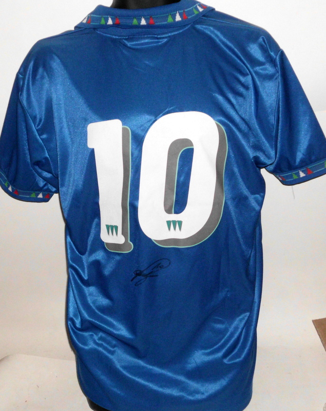 Roberto Baggio, Juventus and Italy, Match Worn Italian Jersey (v Switzerland 1994), Personally Signed