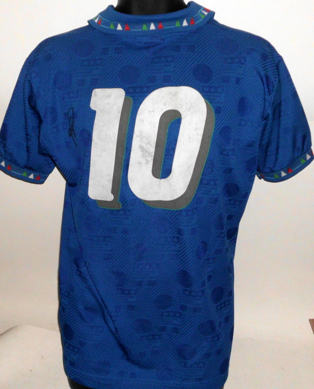 Roberto Baggio, Juventus and Italy, Match Worn Italian Jersey (v Finland 1994), Personally Signed