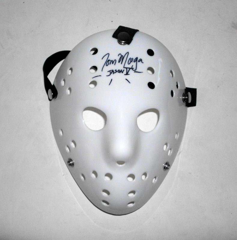 "Friday the 13th Tom Morga Hand Signed Mask with Inscription, ""Jason V"""