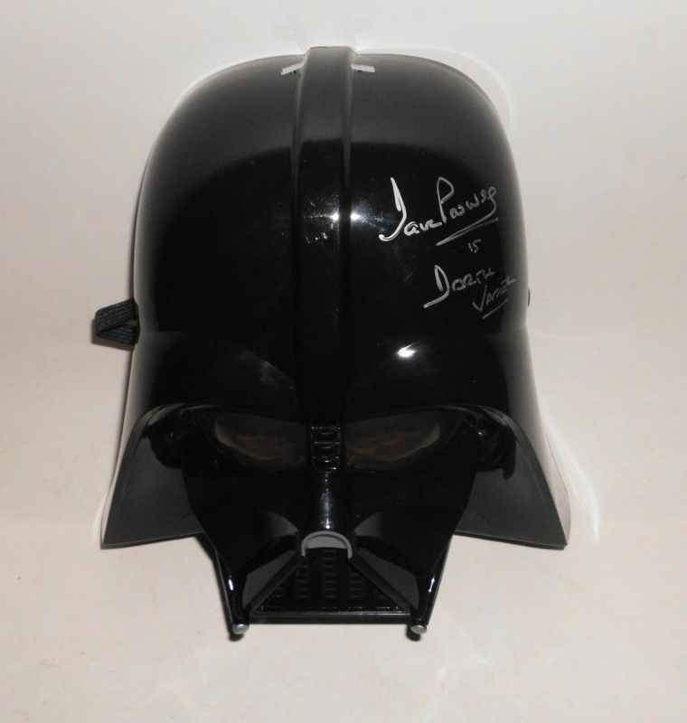 Darth Vader Mask Personally Signed by David Prowse