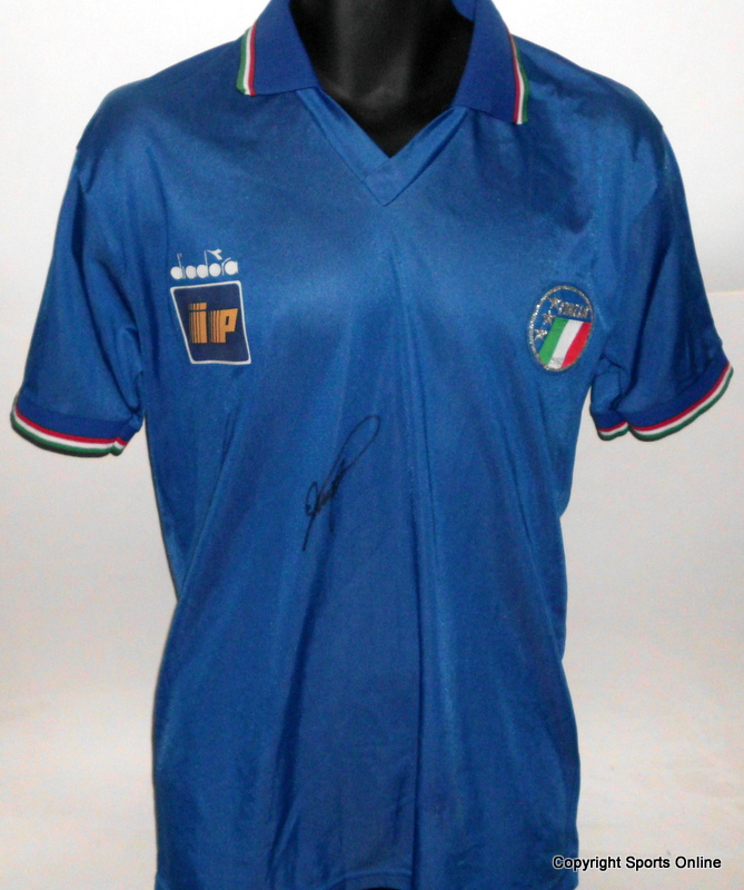 Roberto Baggio Training-Worn Italy Jersey, Number 15, 1990 World Cup