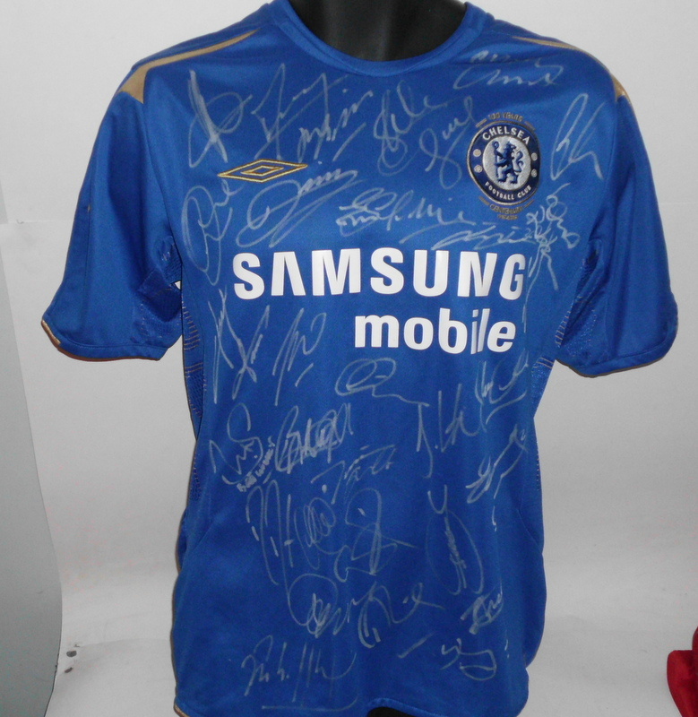 on sale f211c 95d32 Chelsea 2005-2006 EPL Champions Team-Signed Jersey - Terry, Drogba, Lampard