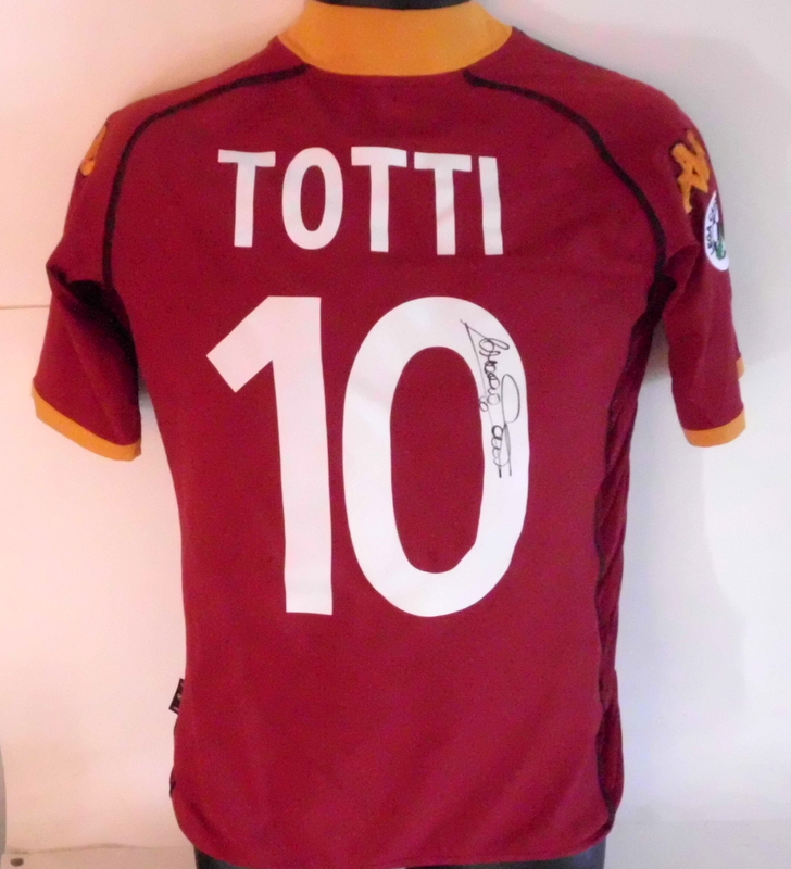 Francesco Totti AS Roma Personally Signed Match-Worn Jersey, 2002-2003 Serie A Season