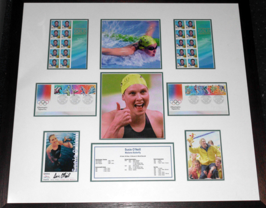 Susie O'Neill Signed Olympics Photo Display, Framed