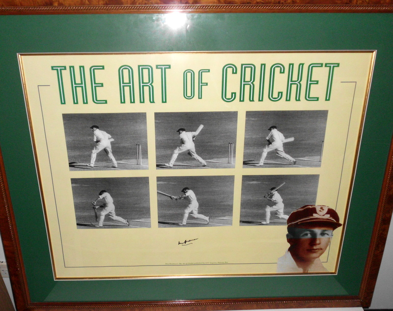 "Sir Donald Bradman ""Art of Cricket"" Personally Signed Lithograph - Large!"