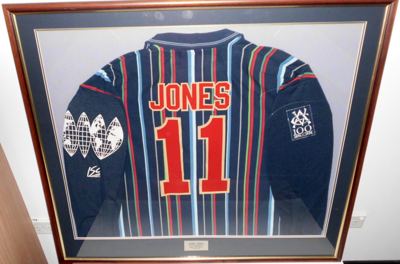Dean Jones Match Worn Shirt, Rest of World XI v Australia, MCG 1996, Man of the Match, Framed