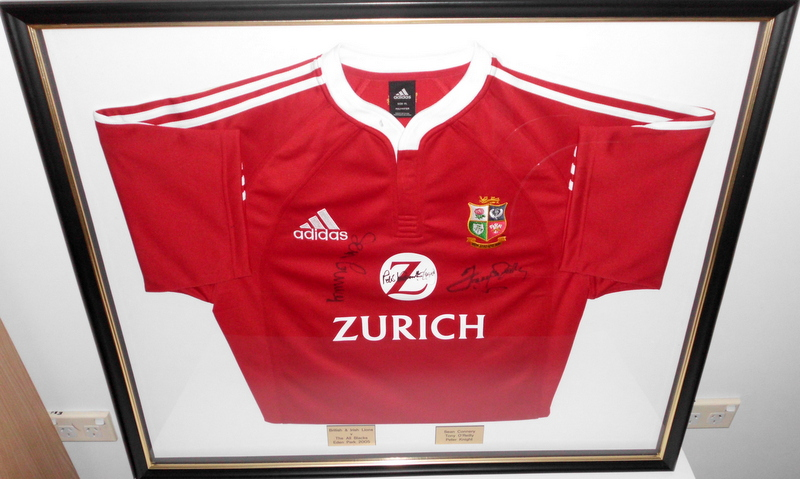 British & Irish Lions Sean Connery Personally Signed Jersey, New Zealand Tour 2005, Framed