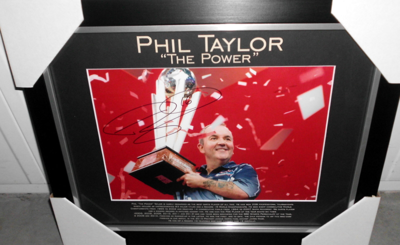"Phil ""The Power"" Taylor Personally Signed Lithograph, World's Greatest Darts Champion"