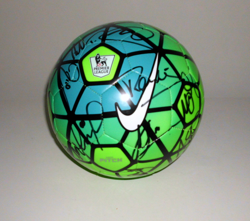 Leicester City 2015-2016 Team-Signed Official Nike Ball - Vardy, Schmeichel, Dyer