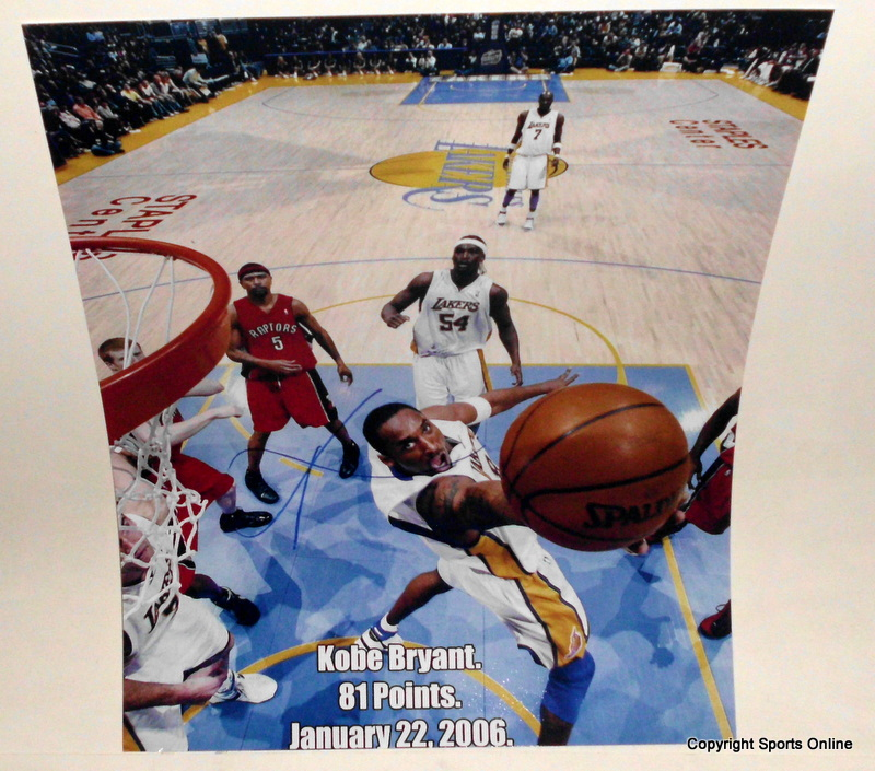 "Kobe Bryant Autographed ""81 Points"", Ltd Edition of 1, Exclusive to Sports Online"