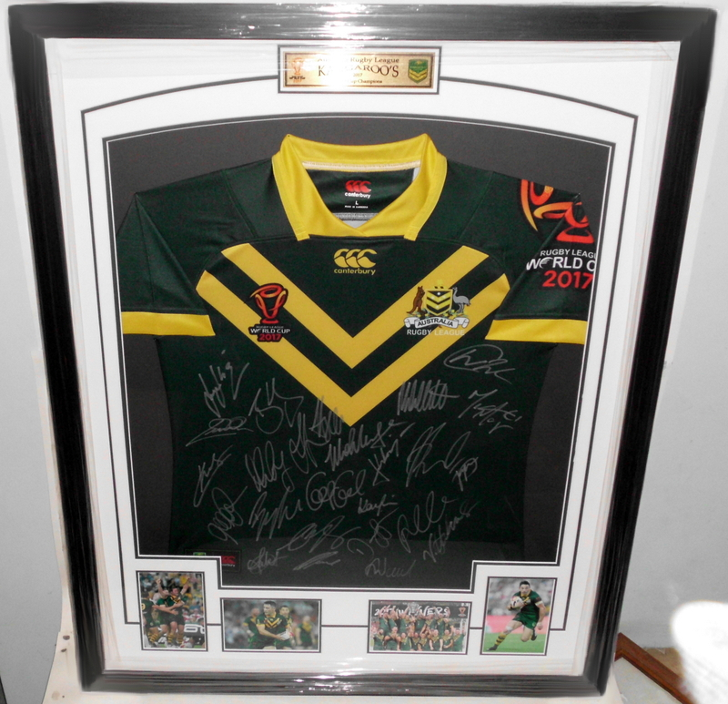 Australian Kangaroos 2017 World Cup Squad and Coach Signed Jersey