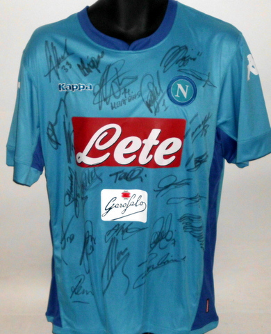 Napoli 2017-2018 Serie A Team Signed Jersey