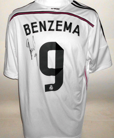 Karim Benzema Personally Signed Real Madrid Jersey