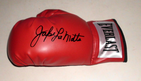 "Jake ""Raging Bull"" LaMotta Personally Signed Glove"