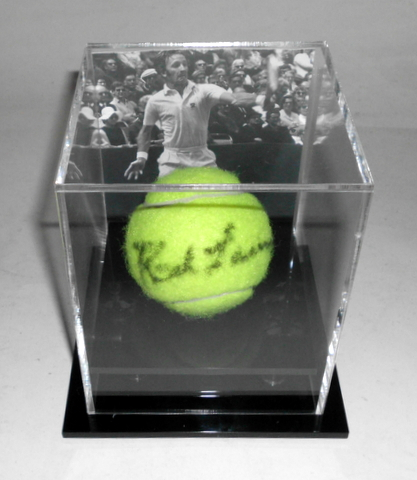 Rod Laver Personally Signed Tennis Ball in Display Case