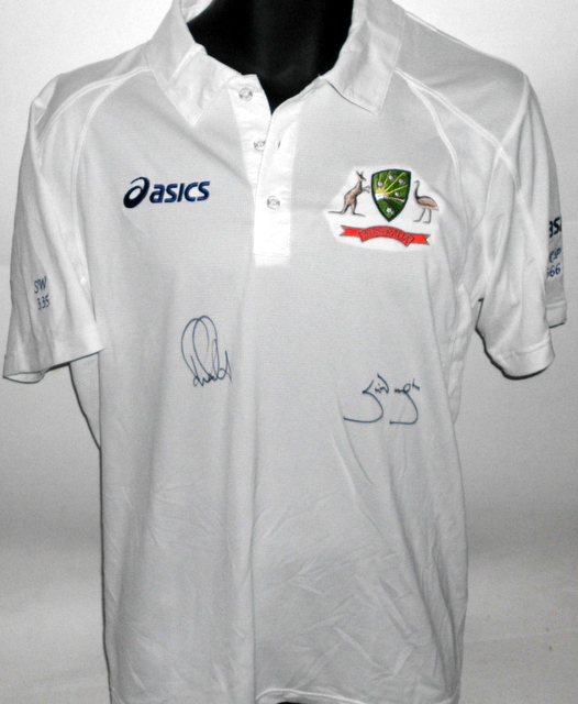 Ricky Ponting and Steve Waugh Personally Signed Test Shirt - The Legends Series