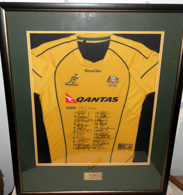 Australian Wallabies 2010 Team Signed Jersey, Framed