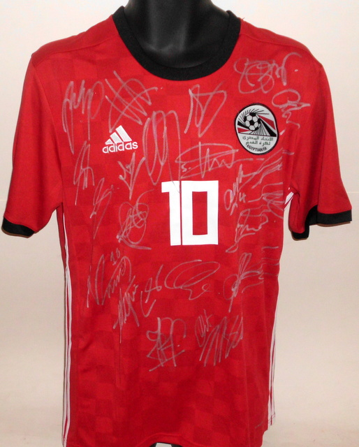 Egypt 2018 FIFA World Cup Team Signed Jersey