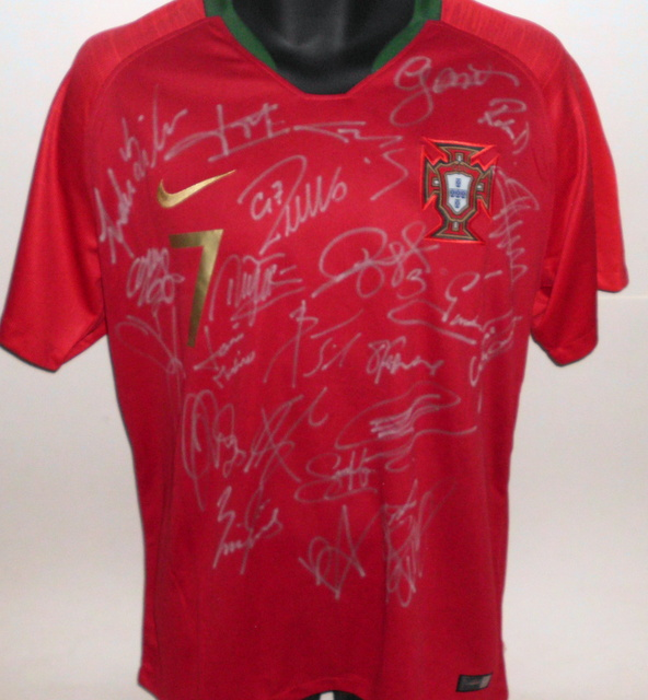 Portugal 2018 FIFA World Cup Team Signed Jersey