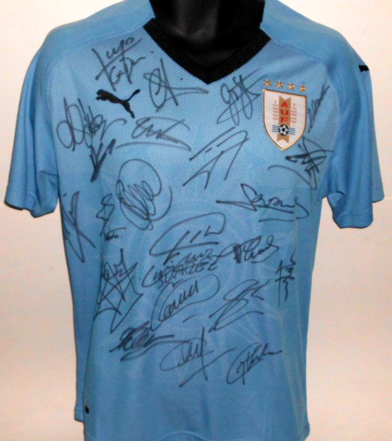 Uruguay 2018 FIFA World Cup Team Signed Jersey