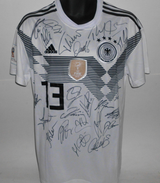 Germany 2018 FIFA World Cup Team Signed Jersey