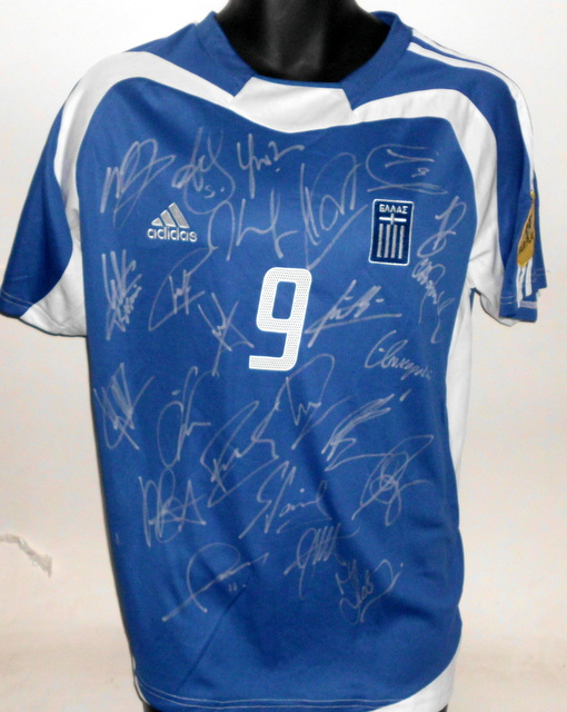2004 European Champions - Greece, Hand Signed Authentic Away Jersey