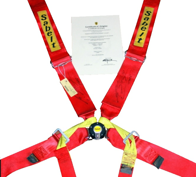 Michael Schumacher Signed and Inscribed 2006 World Champion 6 Point Scuderia Ferrari Seat Belt