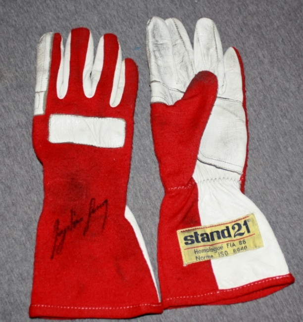 Ayrton Senna Race Worn Stand 21 Gloves, 1986 F1 Season