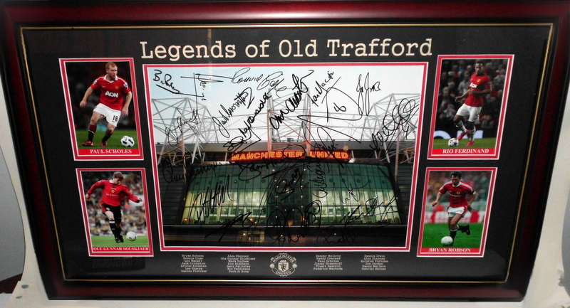 "Manchester United ""Legends of Old Trafford"" Lithograph, Personally Signed by a Host of Legends"