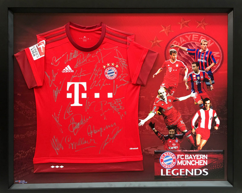 "Bayern Munich ""The Legends"" Personally-Signed Jersey - Beckenbauer, Klinsmann, Muller"