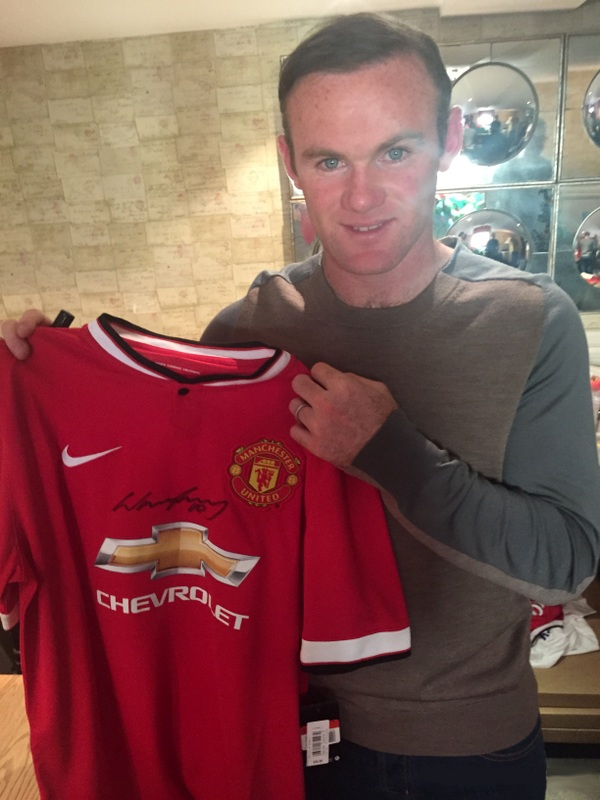 "Wayne Rooney ""Exact Match"" Manchester United Jersey"